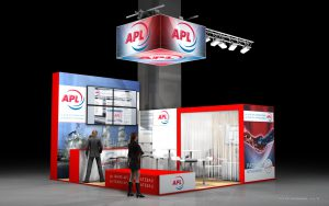 Návrh stánku APL výstava Achema