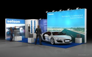 Vizualizace expozice Selson Automechanika